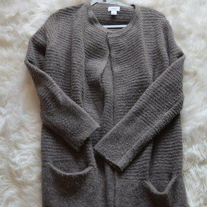 Long Brown Old Navy Sweater with Pockets